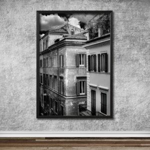 Italien, Rom. Gata med gamla byggnader