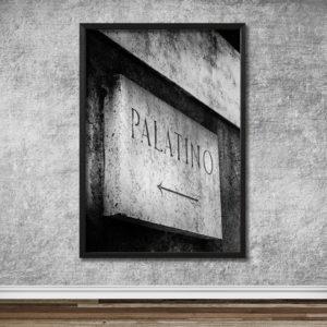 Italien, Rom, Skylt Palatinen